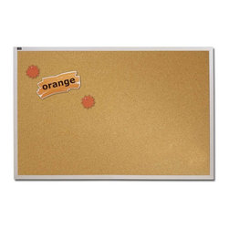Quartet - Quartet Natural Cork Bulletin Board with Aluminum Frame - 144 x 48 in. Multicolo - Shop for Bulletin Boards from Hayneedle.com! About QuartetQuartet knows that you just have to write it down or you'll forget. They've been in the whiteboard bulletin board and chalkboard business since 1945 and have perfected the art of the perfect surface. Today they boast a full line of visual communication products used at home in the office in hospitals and in schools across the country. When you're looking for a product to help you communicate you're looking for Quartet.