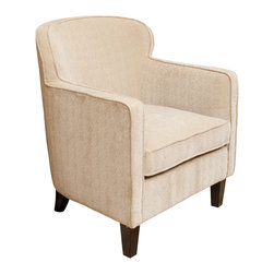 Great Deal Furniture - Luvaugn Fabric Club Chair, Dark Beige - The Luvaugn Fabric Club Chair is a great piece for your living room, bedroom or office. The rounded frame and cushion design offers a modern touch of class while still retaining all of the benefits of the classic club chair. With an innovative look and it's attention to detail, this accent chair is a perfect blend of form and function.