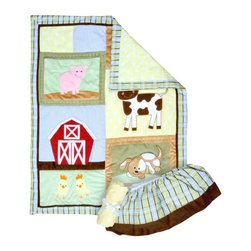 Trend Lab 3-Piece Crib Bedding Set, Baby Barnyard - Add a touch of elegance to any nursery with the premium Trend Lab 3-Piece Crib Bedding Set. The Trend Lab 3-Piece Crib Bedding Set includes one quilt, one fitted crib sheet and one box-pleat skirt. Coordinate the Trend Lab 3-Piece Crib Bedding Set with other accessories from the Trend Lab line (sold separately) for a complete nursery transformation.