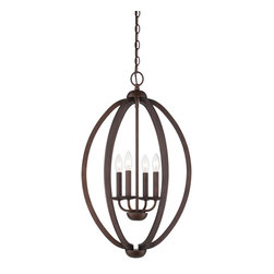 Quoizel - Quoizel Museum Bronze Mid. Chandeliers - SKU: QF1402CMU - Quoizel fixtures come in a variety of styles, finishes and materials to suit any home decor. Choose from fabric, metal or even one of our Quoizel Naturals shades, with bamboo, onyx or agate stone, to name a few. Look to our fixtures to add the finishing touch to your home`s style.