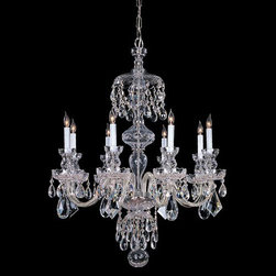 Crystorama Lighting Group - Traditional Crystal Swarovski Strass Crystal Polished Chrome Eight-Light Chandel - Traditional crystal chandeliers are classic timeless and elegant. Crystorama's opulent glass arm chandeliers are nothing short of spectacular. This collection is offered in a variety of crystal grades to fit any budget. For a touch of class order this collection in Gold for traditionalists or in Chrome to match your contemporary or transitional decor.  -Primary Material: Steel  -Crystal: Swarovski Strass  -Chain or Rod Length: 36inches  -Wire Length: 72inches Crystorama Lighting Group - 1148-CH-CL-S