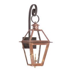 Elk Lighting - EL-7931-WP Grande Isle Outdoor Gas Ceiling Lantern in an Aged Copper - Outdoor gas shepherd's scroll wall lantern Grande Isle Collection in solid brass in an aged copper finish
