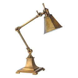 Mini Architect's Draftsman Table Lamp - Classic brass lamps are another staple of the preppy style. This Mini Architect's Draftsman lamp has an aged patina that is reminiscent of the old days. It's the perfect task lamp for an office.