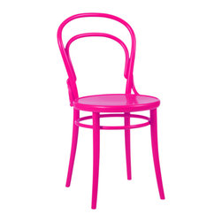 Thonet Chair in Hot Pink - Classic cafe chairs in hot pink are a totally fresh take!