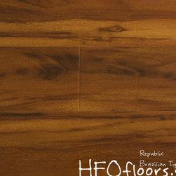 Republic Platinum Series laminate - Plantinum Series Collection Brazilian Tiger Wood 12.3mm laminate. Available at HFOfloors.com.
