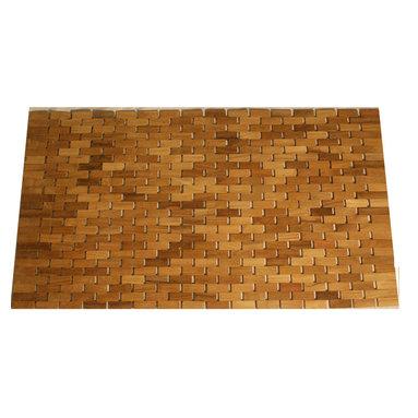 Teak Door Mat - Greet guests in style with this beautiful teak Door Mat by Jewels of Java.