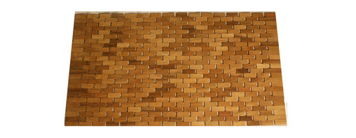 Teak Door Mat - Greet guests in style with this beautiful teak Door Mat by Jewels of Java.