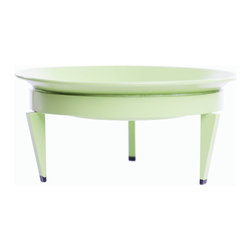 Steel Life - Mezzo Mod Dish, Verdant (Lime Green), 10x10 - It's a planter, it's a fruit bowl — it's really just perfect for anything you'd like to prop up on a pedestal. Pair this colorful dish with it's larger counterparts for a multilevel display, or use on its own as a centerpiece. Either way, it brings presence to that whatever you choose to fill it with.