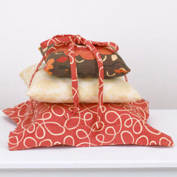 Cotton Tale Designs - Peggy Sue Pillow Pack - A quality baby bedding set is essential in making your nursery warm and inviting. All Cotton Tale patterns are made using the finest quality materials and are uniquely designed to create an elegant and sophisticated nursery. Peggy Sue Pillow Pack has three separate pillows tied together with red bias. Pillows can be used separately or together as shown. Pillows should never be used inside the crib, only as decoration. Made in the USA. Spot clean only. Pillows measure 15x15, 12x12, and 10x10. Perfect for your little girls nursery.; Weight: 1 lb