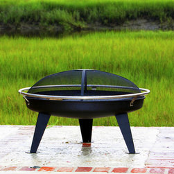 Fire Sense HotSpot Urban 880 Fire Pit - The Fire Sense HotSpot Urban 880 Fire Pit balances cool modern design with traditional flair perfectly. -Mantels Direct