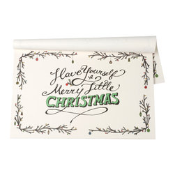 Hester & Cook Design Group - Merry Little Christmas Paper Placemat - This festive pad is perfect for your holiday entertaining needs.