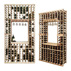 Wine Cellar Innovations - Individual Bottle Kit; Vintner: Rustic Pine, Unstained - 7 Foot - This individual bottle wine racking option is sold to be compatible with the Vintner Archway & Table Top option, or the Vintner Glass Rack and Table Top Option. This wine racking module consists of all the above and below individual wine bottle racking for the unit as pictured. Please note that there is only an 8 Ft & a 7 Ft Option available for this unit. The 8 Ft Option is compatible with stacking double 4 Ft Options, and the 7 Ft Option is compatible with stacking 4Ft Options on the bottom, and 3Ft Options above. Archway & Table Top, & Glass Rack and Table Top kits sold separately. Moldings and platforms sold separately. Assembly required.