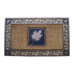 "A1 Home Collections - Rubber And Coir Molded "" Maple Leaf"" Doormat, Large Size: 23""X 38"" - Accent your doorway with this ultra chic and stylish doormat.Crafted of all natural rubber and coir this mat is an excellent decorative accent for your doorway and it also help remove dirt, debris, mud and moisture from your shoes."