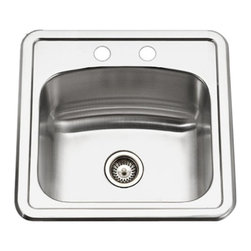 Houzer - Houzer Hospitality SBT515-1 Single Basin Drop In Bar Sink Multicolor - SBT-1515- - Shop for Kitchen from Hayneedle.com! The Houzer Hospitality SBT515-1 Single Basin Drop In Bar Sink is made of 19-gauge stainless steel with a 2-inch drain opening and sound absorbing pad to cut down on clatter.Additional InformationBasin depth: 6.5 inchesDrain hole size: 2 inchesDrain included: NoRounded corners for easy cleanupSuper-Silencer pad dampens soundFits 18-inch sink baseCompatible with Houzer BG-1300 and 190-4200Includes fasteners and instructionsMeets ASME A112.19.3-2000 UPC standardsAbout HouzerFor over thirty years Houzer has improved millions of kitchens across American and around the globe one sink at a time. Their understanding of the kitchen as the heart and soul of any household has led to designs that bring comfort functionality and vibrant personality to your countertop! Every design theme is featured in their expansive catalogue and only the highest quality materials and artisanal craftsmanship goes into every detail of their line of luxury kitchen sinks to ensure lasting beauty and extraordinary value for years to come!