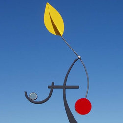 the trees are watching - Kinetic, painted steel, glass