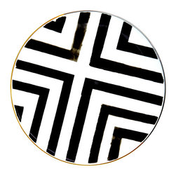 Vista Alegre - Sol Y Sombra Porcelain Charger Plate - The iconic Christian Lacroix watercolor striped design, mixed with Vista Alegre's signature gold and platinum elements, creates a fun yet elegant design. Mix and match with different patterns to add more color to your table.