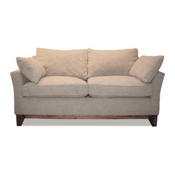 Lorenzo Sofa - This sofa is available in any upholstery material or frame finish.