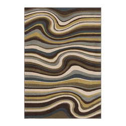 Surya - Monterey Multicolor Undulate Pattern Area Rug - The designs in Monterey are casual to modern, and they are the perfect complement to today's more casual decor. The Monterey Area Rug with MulticolorUndulate Pattern features a dense, machine-woven construction with mechanical carving for added depth and texture.