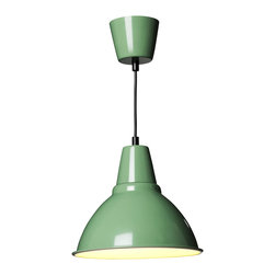 Foto Pendant Lamp, Green - I love the light fixtures at Ikea. They're affordable enough to replace every boring one in your house.