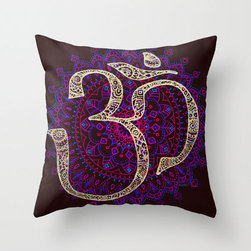 Calming Mantra Pillow Cover - Each Calming Mantra Pillow Cover is printed on both sides, has a concealed zipper, and has been cut and sewn by hand from 100% spun-polyester poplin fabric. Perfect for couches, beds, and chairs, the pillow cover's rich and meditative design will enrich and liven up any room you toss it in.