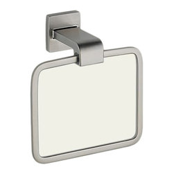 Delta - Delta 77546-SS Arzo Towel Ring (Stainless) - With its square, modern style and eloquent functionality, the Arzo collection makes a unrivaled and bright addition to any bathroom.