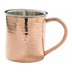 Custom Copper Mugs, LLC - Double Wall Hammered Mug, 14oz - Our Hammered Moscow Mule Mugs are constructed of 100% pure copper and hand hammered for a unique touch. We apply a food-safe lacquer  that resists tarnishing for lasting beauty and luster. The mug of choice when serving the infamous Moscow Mule--a cocktail made from a blend of vodka, ginger beer, and lime juice. The copper mug enhances the flavor and keeps the drink colder, longer.