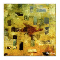 Ready2HangArt - Ready2HangArt Alexis Bueno 'Abstract Star Fish' Canvas Wall Art - This tropical abstract canvas art is the perfect addition to any contemporary space. It is fully finished, arriving ready to hang on the wall of your choice.