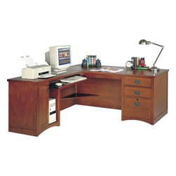 Kathy ireland Home by Martin Furniture - California Bungalow Office Collection L - Desk and return