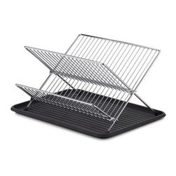 Pro-mart Industries, Inc. - Folding Dish Rack and Drain Board Set - The perfect dish rack and drainboard set. Its compact size makes it perfect for kitchens with limited counter space.