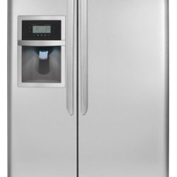 "Frigidaire - Gallery DGUS2645LF 36"" 26 cu. ft. Freestanding Side-by-Side Refrigerator with 3 - Side-by-Side refrigerators feature two long compartments one refrigerator one freezer that are parallel to one another and offer a simultaneous full view of both the refrigerator and freezer Frigidaire side-by-side refrigerator models are energy effi..."