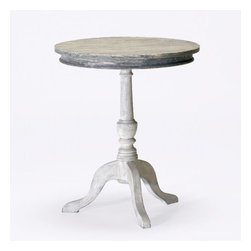 Garland Pedestal Table - Some people prefer a chest or piece of furniture with drawers as a nightstand, but others like the look of tables. This Garland table is a perfect fit and looks great next to a bed. It also works great for those smaller bedrooms that don't have room for a chest next to the bed.