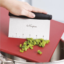 Bench Scraper - Another absolute must for every kitchen. Scraping dough, dividing, taking veggies off of the cutting board. One of those tools you'll wonder how you did without.