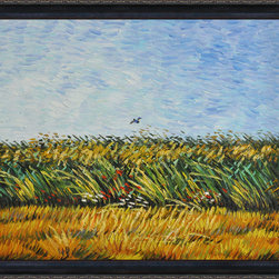 overstockArt.com - Van Gogh - Edge of a Wheat Field with Poppies and a Lark Oil Painting - Hand painted oil reproduction of one of the most famous Van Gogh paintings, Edge of a Wheat Field with Poppies and a Lark. The original masterpiece was created in 1887. Today it has been carefully recreated detail-by-detail to near perfection. Why settle for a print when you can add sophistication to your rooms with a beautiful fine gallery reproduction oil painting? Vincent Van Gogh's restless spirit and depressive mental state fired his artistic work with great joy and, sadly, equally great despair. Known as a prolific Post-Impressionist, he produced many paintings that were heavily biographical. This work of art has the same emotions and beauty as the original by Van Gogh. Why not grace your home with this reproduced masterpiece? It is sure to bring many admirers!