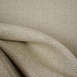 Kauf - Fraser Island Flax Herringbone Linen Fabric By The Yard - Fraser Island Flax is a linen upholstery fabric by Kaufman. Natural beige color with a hint of grey. Great for any upholstery project.