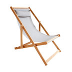 Gallant & Jones - Honomalino Chair - Deck chair with Fabric Sling and Pillow