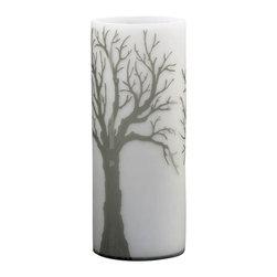 Cyan Design - Oak Alley Vase - Large - Large oak alley vase - acid white and smoke