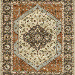 "Loloi Rugs - Loloi Rugs Maple Collection - Beige / Brown, 7'-9"" x 9'-9"" - Transform your home into a manor steeped in elegance and tradition with the majestic Maple Collection. These timeless Persian designs carry the rich heritage of centuries of carpet making in each arabesque, stylized flower and intricate border. Maple Collection rugs are hand-tufted in India of 100-percent wool so they are eco-friendly and mindfully crafted with sustainable materials. With colors as rich as these, you will feel like nobility every time you walk into your home."