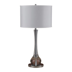 Cal Lighting - Cal Lighting BO-2074TB Abaco 1 Light Pedestal Base Table Lamp - Features: