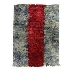 Hand-woven village rug - Vintage Angora Carpet - Extremely soft Angora knotted on wool. Each of our rugs have been collected over many years of traversing the Turkish countryside, seeking out individual treasures. Regardless of it age or origin, each is a one-of-a-kind example of the artistry of its weaver.