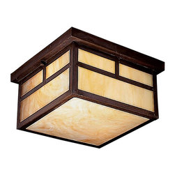 Kichler - Kichler Alameda Flush Mount Outdoor Lighting Fixture in Canyon View - Shown in picture: Kichler Outdoor Flush Mt 2Lt Fluoresc in Canyon View