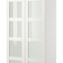 IKEA of Sweden/K Hagberg/M Hagberg - PAX Wardrobe with 2 doors - Wardrobe with 2 doors, white, Bergsbo frosted glass