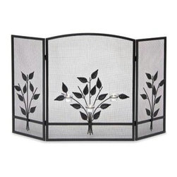 Pilgrim Home & Hearth - Napa Forge Three Tea Light Screen Black - Pilgrim Home & Hearth / Napa Three Tea Light Screen  Black Finish -Folding screen features 3 tea ligh holders on center panel.  Candles not included.  10 Year Limited Warranty
