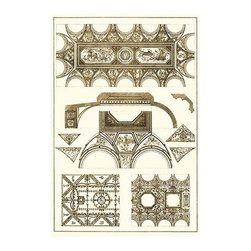 "Buyenlarge.com, Inc. - Coved Ceiling - Fine Art Giclee Print 24"" x 36"" - Architectural Drawings of Renaissance Architecture"