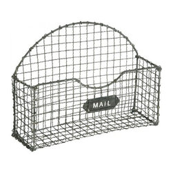 Aiden Gray - Mail Basket, Gray Set of 2 - This little mail catchall could be the secret to turning the pile of mail to go through on your entryway table into a legitimate design statement. After all, you wouldn't want to leave this bin empty, right?