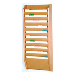 Wooden Mallet - Legal Size File Holder w 10 Pockets (Mahagony - Finish: MahagonyIncludes pre-drilling and mounting hardware for installation. Oak sides sealed in durable state of the art finish. Frame made from solid oak. Panels made from HDF. Made in USA. No assembly required. Pocket: 15 in. W x 0.75 in. D x 8 in. H. Overall: 17 in. W x 3.75 in. D x 48 in. H (22 lbs.). WarrantyLegal size file holders are an attractive way to keep files handy.