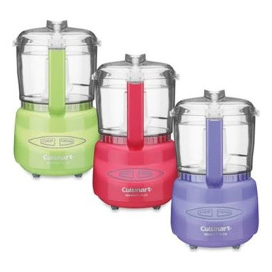 Cuisinart - Cuisinart Mini-Prep Plus Processors - These petite but efficient 3-cup food processors from Cuisinart are perfect for chopping herbs or bread crumbs, to finely grinding hard cheese. One-touch operation and compact size make them a worthy addition to any kitchen countertop.