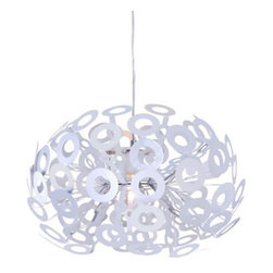 Zuo Modern Phaser Ceiling Lamp Aluminum - The Phaser ceiling lamp's aluminum rings creates a unique glow that enhances any space. The lamp is UL approved. The height is fully adjustable for that perfect height.