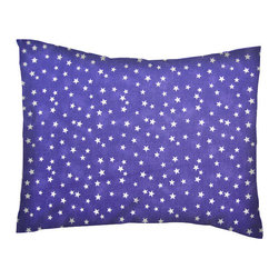 SheetWorld - SheetWorld Twin Pillow Case - Percale Pillow Cases - Cloudy Stars Purple - Twin pillow cases. Made of an all cotton percale fabric. Features a beautiful Cloudy Stars Purple print. (matching sheets available on 'buy baby sheets' page).