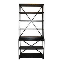 NOIR - NOIR Furniture - Sutton Bookcase in Hand Rubbed black - GBCS201HB - Features: