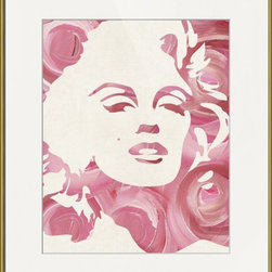 Imagekind - Marilyn Monroses, Framed Art Print - Nancy draws inspiration from nature, fashion, and interior design.  Hand-painted shapes and textures pulse among the buzz of digital geometries. Pop art and mod motifs incorporated with symmetry, repetition and vibrant colors create bold patterns that make for great modern wall décor in any space.